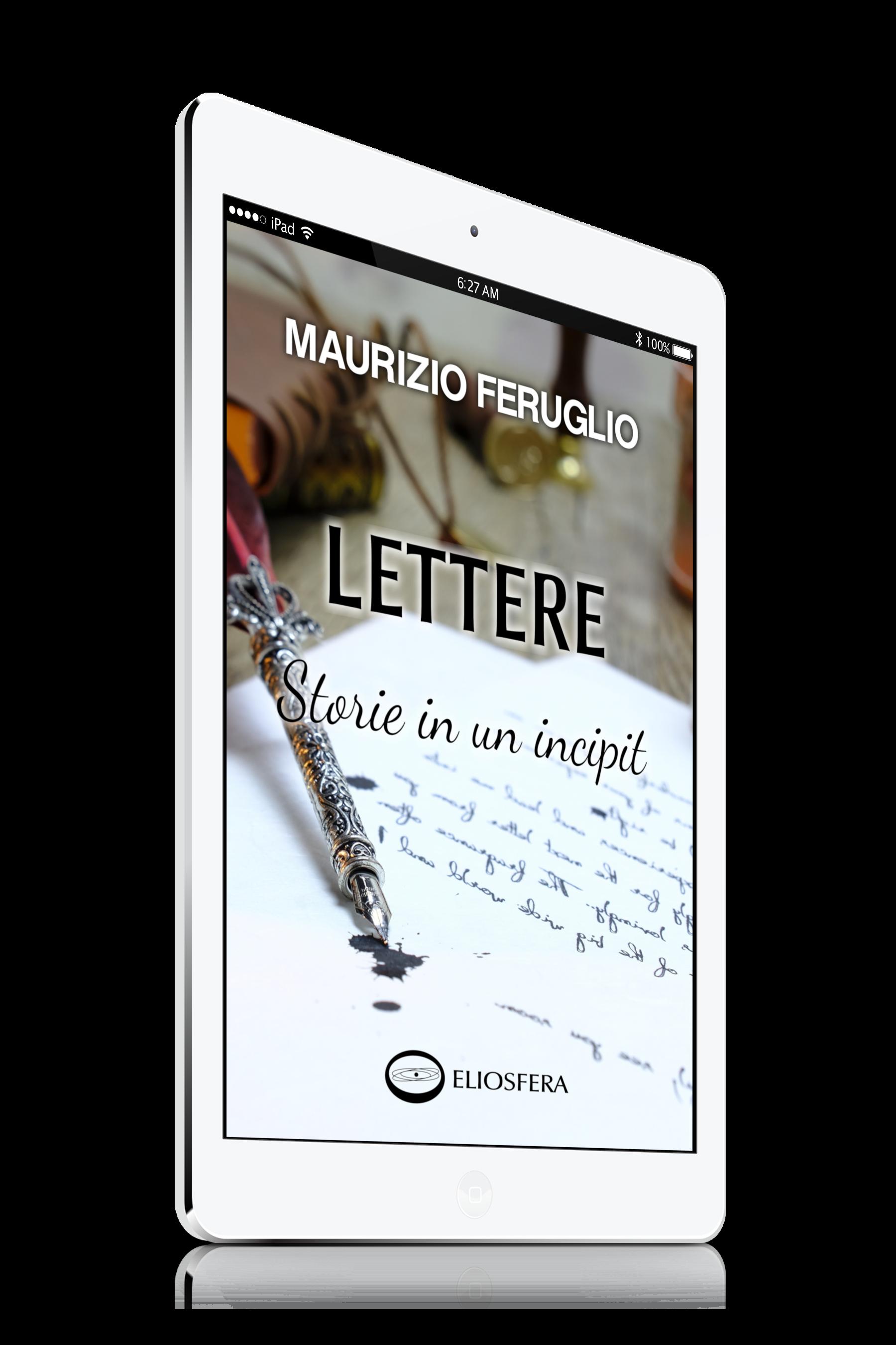Lettere: Storie in un incipit. Copertina sul tablet.