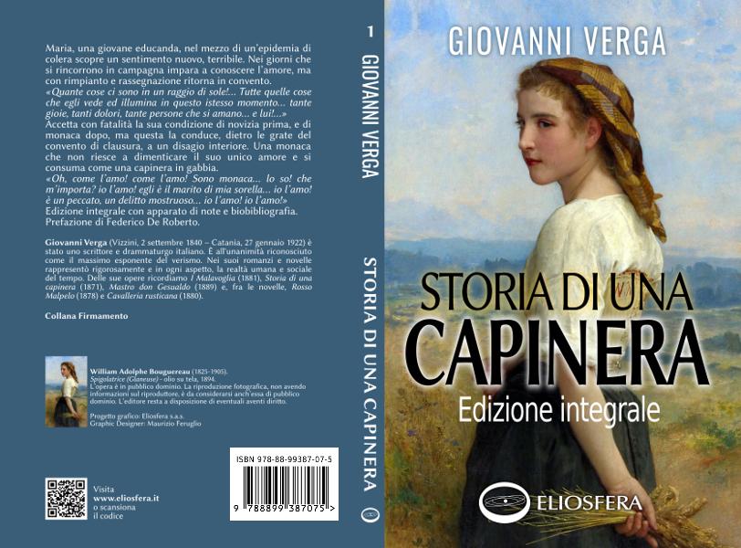 Copertina libro Storia di una capinera